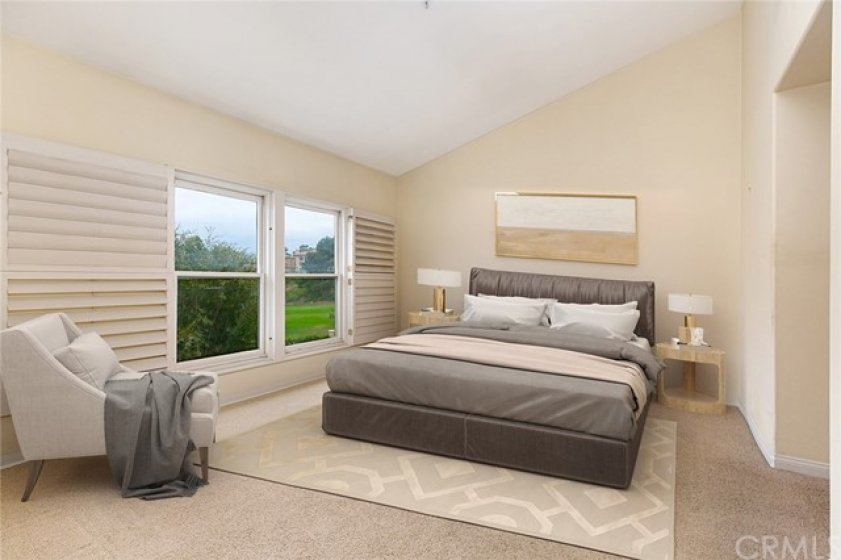 Bedroom with great golf course view!