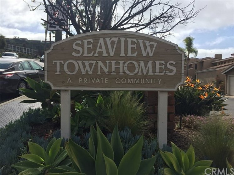 Seaview Townhomes community has 92 homes on 3 blocks on the East side of the freeway.  Just off Avenida Presidio.