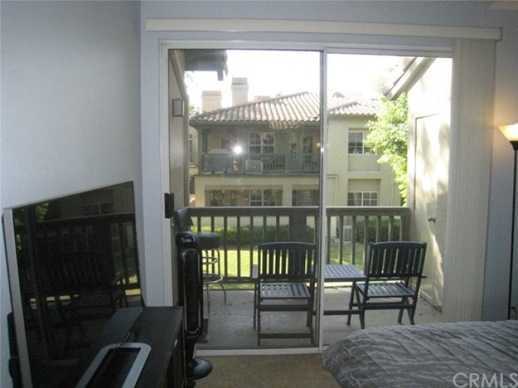There is a sliding glass door leading from the master bedroom to the balcony. Very easy to let the fresh air in!
