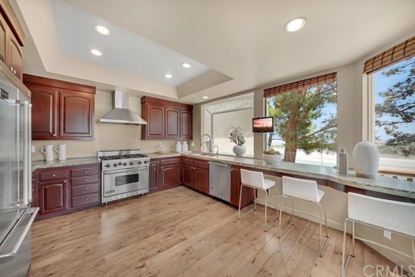 Kitchen with extensive views.