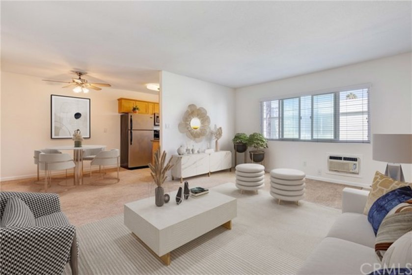 Virtually Staged Living & Dining Areas