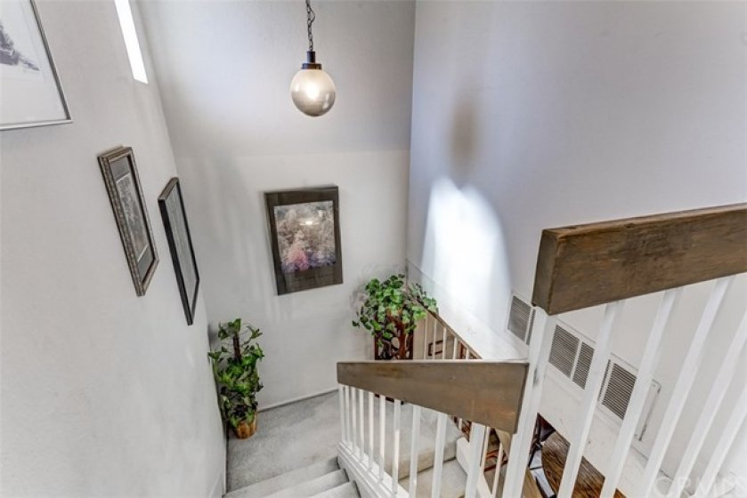 The staircase with natural light.