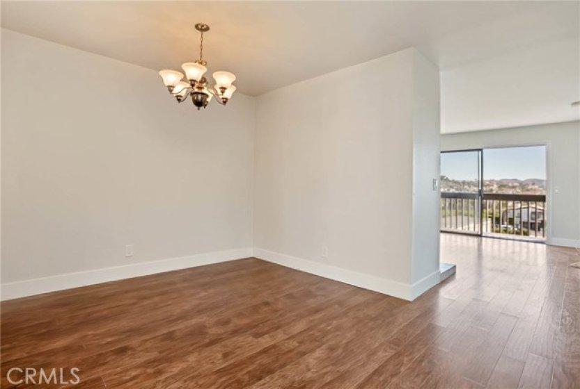 Dinning area off kitchen, new paint, flooring