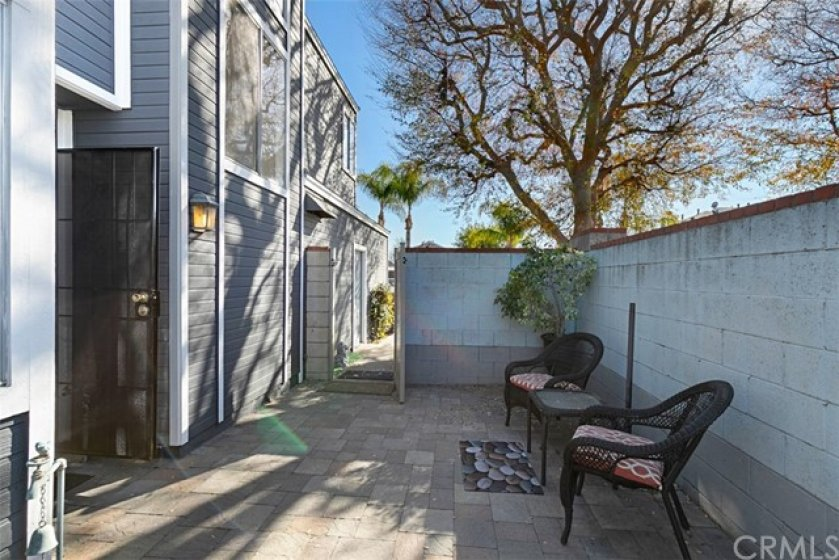 Just inside the Private Entry Courtyard, and the front door to Your New Home just to the left