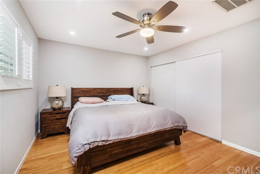 The Bedroom is large enough for a king sized bed and has a large closet accessed by a sliding door.