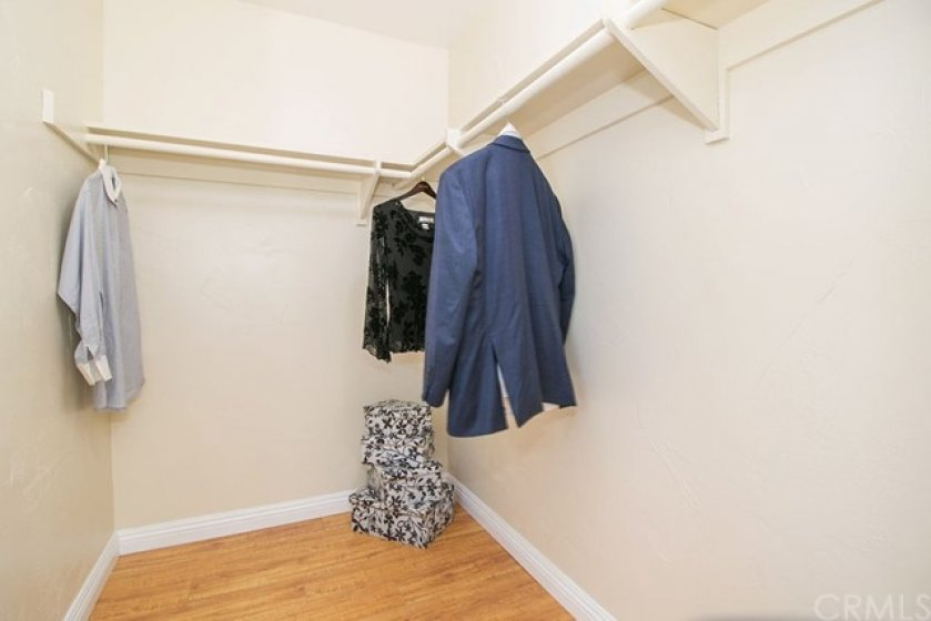 Large walk in closet for the master bedroom.