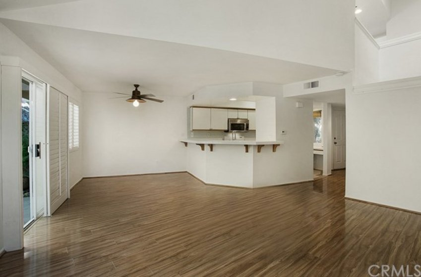 The open floor plan is great for entertaining.