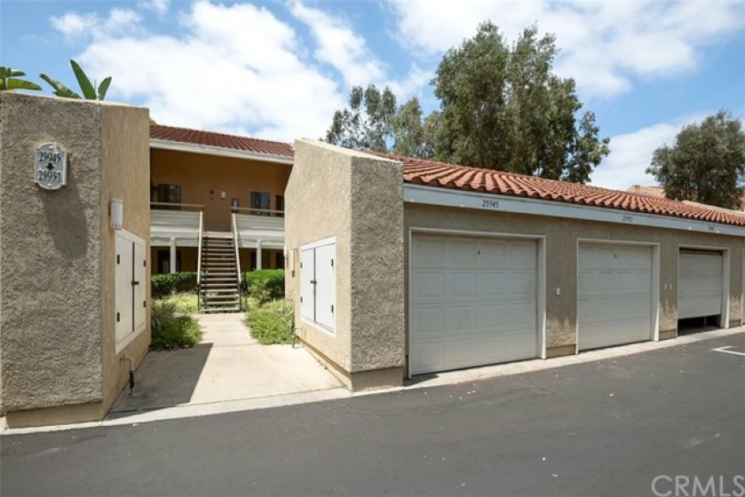 One car garage PLUS 1 carport AND PLENTY of guest parking. Some recent HOA upgrades include: brand new asphalt, landscaping updated to drought friendly, all deck railings redone and repainted with continued maintenance.