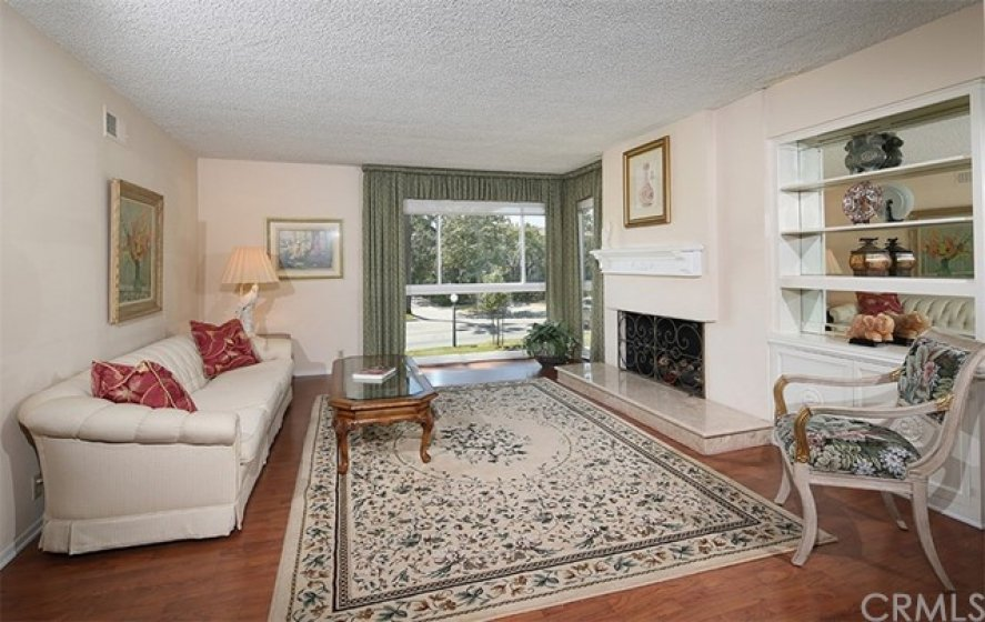 Living room with picture window.