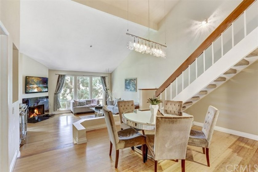 Open floor plan with high ceilings- Perfect for entertainment