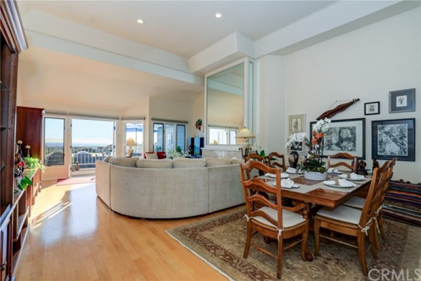 Living room and dining room with views!!  Great place to entertain!!