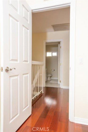 Wood flooring upstairs