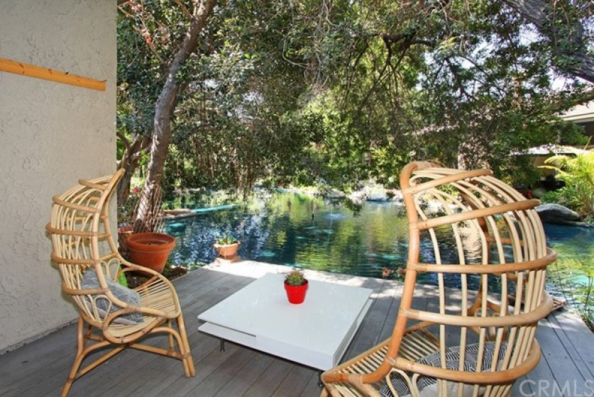 Picture yourself out here on your own deck having morning coffee or an afternoon drink while listening to the sounds of trickling water.