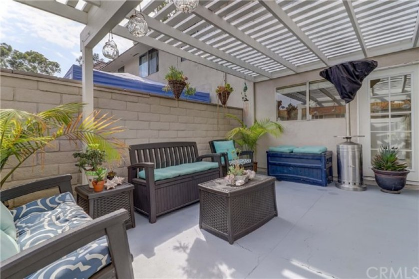 Smartly designed patio furniture doubles as storage and may be negotiable with the right offer!
