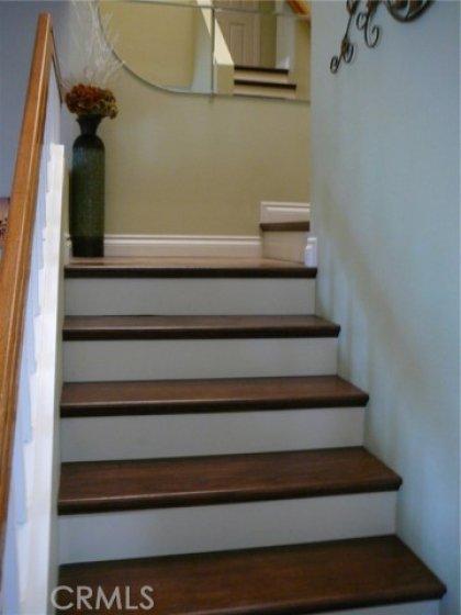 Custom hard wood stairway.