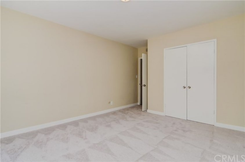 Bedroom #2, has large, and efficient closet.  Did you note the home has all new contemporary Baseboards  too?