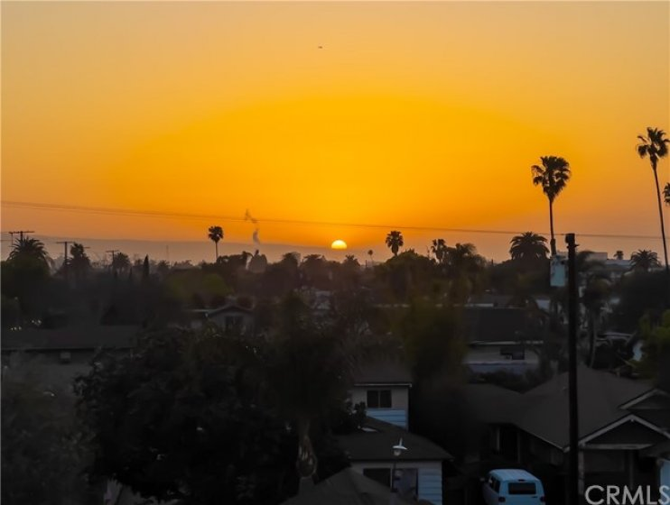 View of the sunset from the balcony