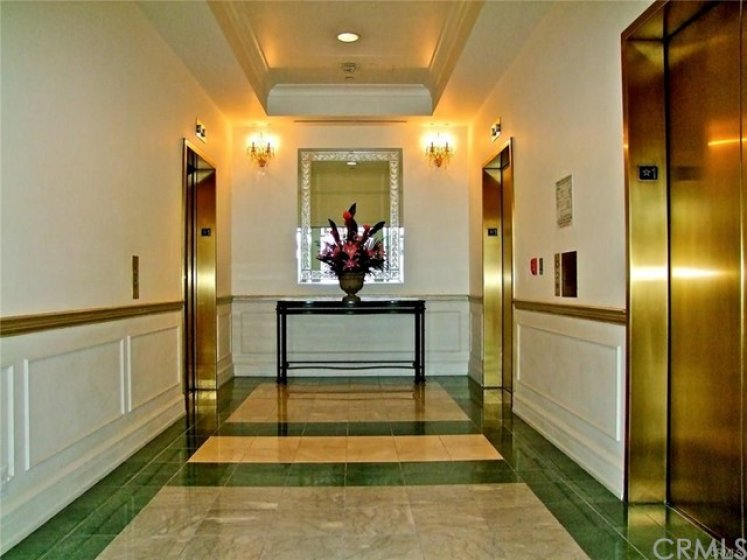 3 different elevators that will lift you up to your luxury unit.