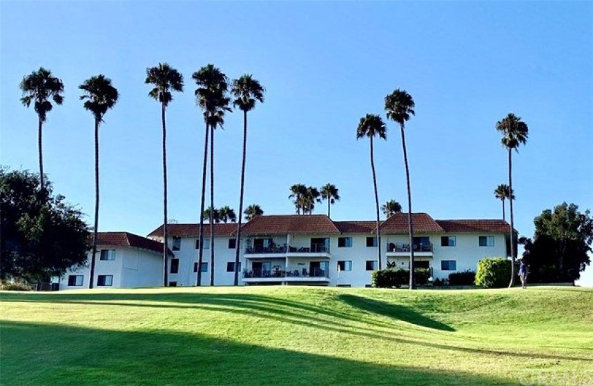 View from golf course - condo on top floor directly over 6th hole