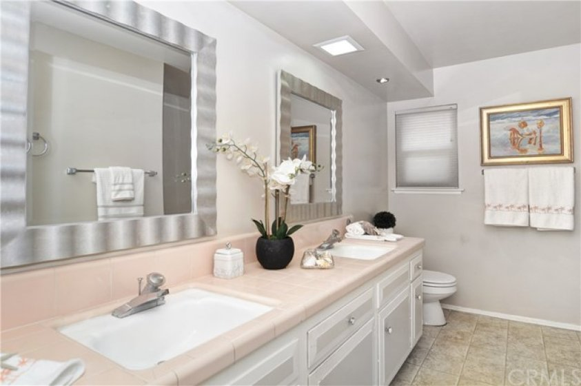 Guest Bathroom with dual sinks