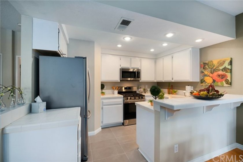 Kitchen comes with stainless appliances
