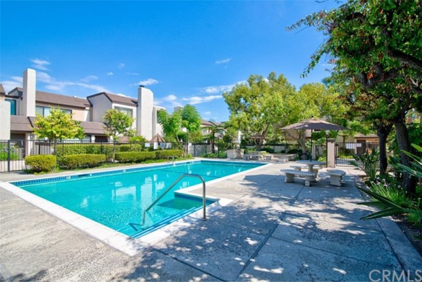 The house is just steps away from the sparking Pool, Spa, BBQ.
