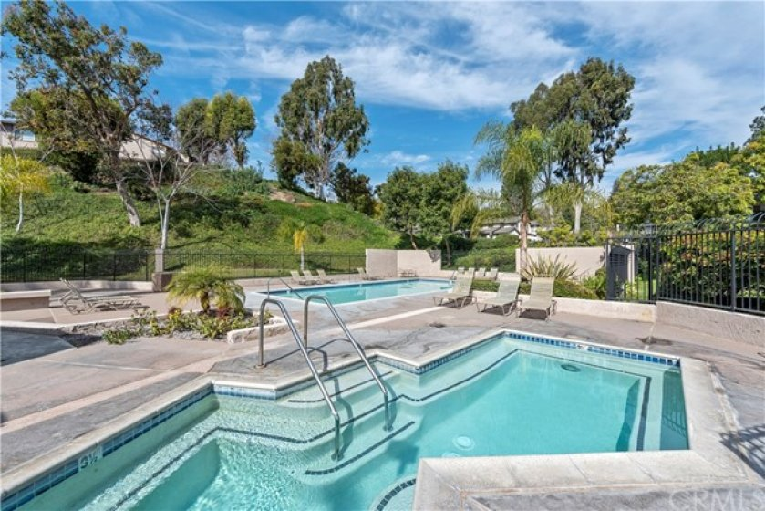 Enjoy the jacuzzi or the kiddie pool, one of two community pool areas.