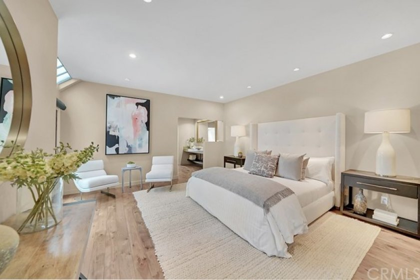 Master bedroom suite on the first floor.