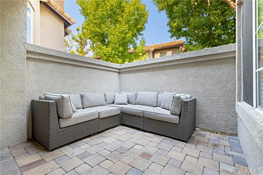 Very private enclosed patio
