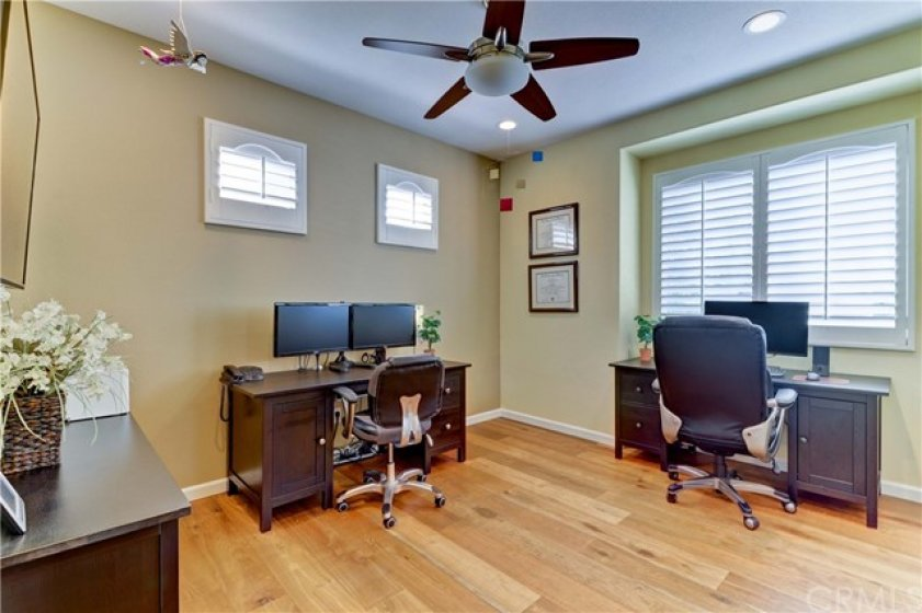 Big 3rd Bedroom Has Loads of Natural Light, Closet Org Package, Ceiling Fan, Can Lights, & More of That Stunning Wood Floor.