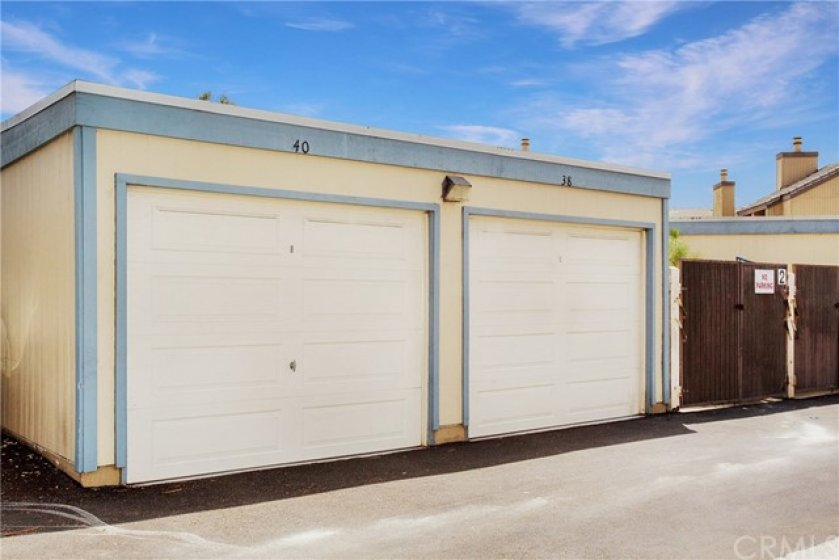 Garage #40. Single garage, very spacious with plenty of room for storage!