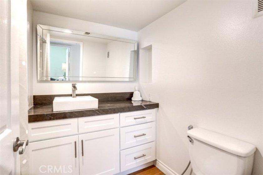 Beautifully upgraded second bathroom