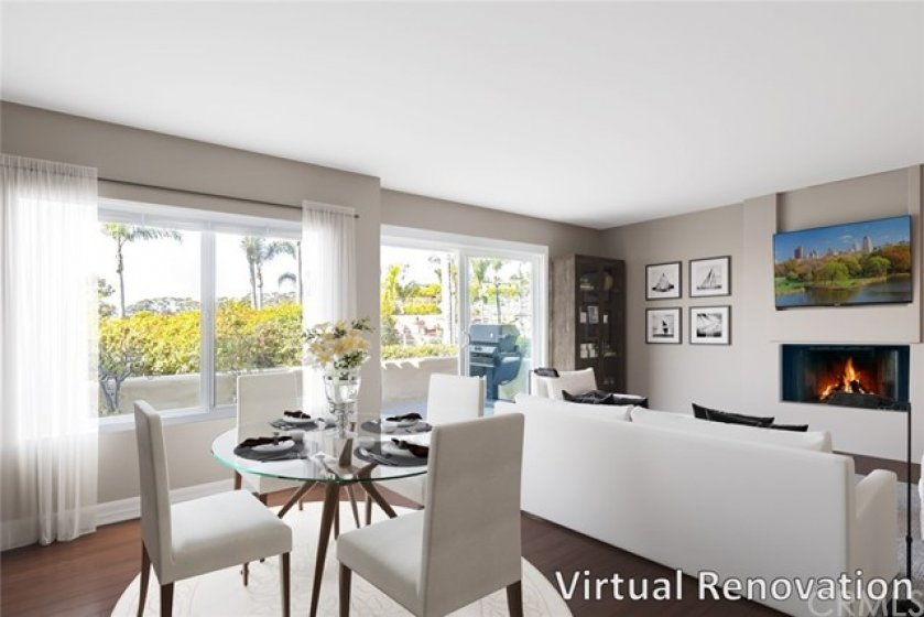 """""""Virtual Renovation"""" The spacious living room is truly a place to unwind or entertain friends and family."""