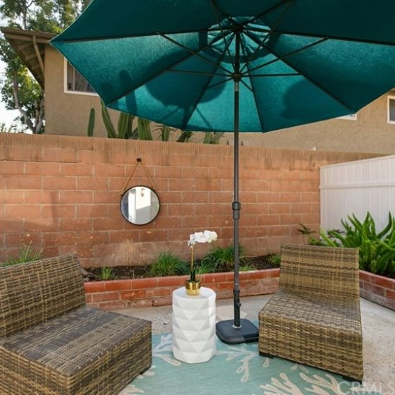 Beautiful back patio with your own garden