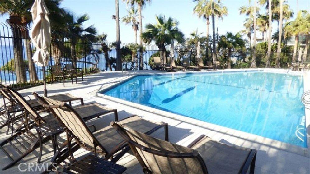 Relaxing pool area with ocean views