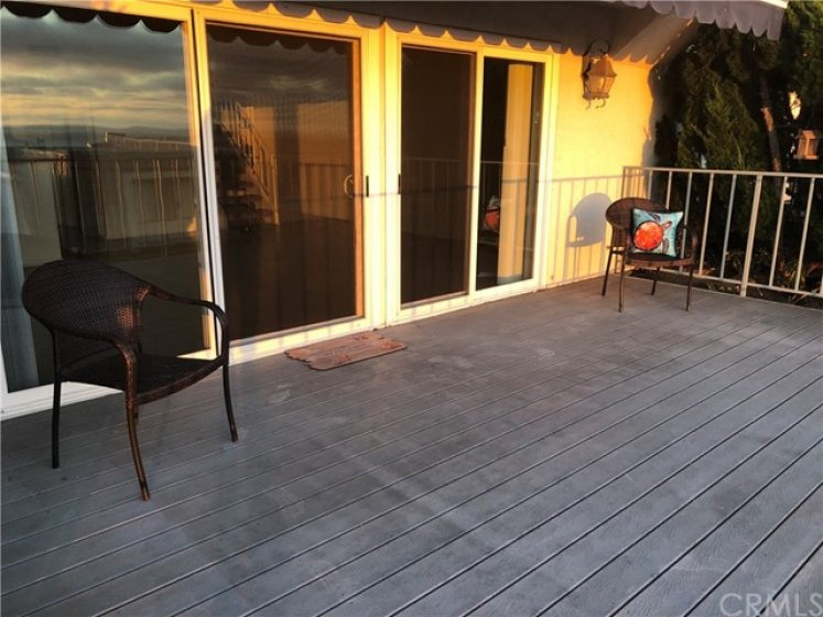 Spacious Deck off Living Room is ideal for entertaining