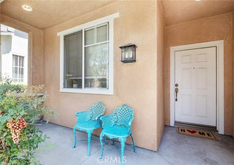 Inviting front porch area