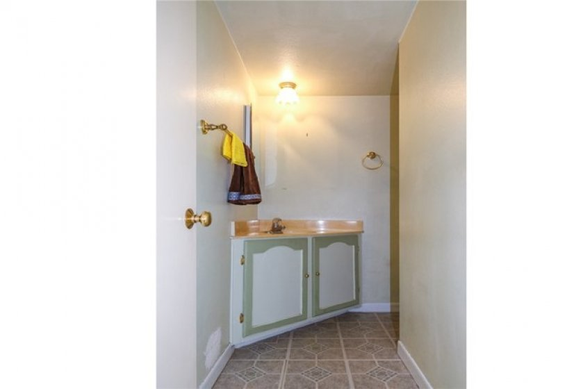 The downstairs bathroom.