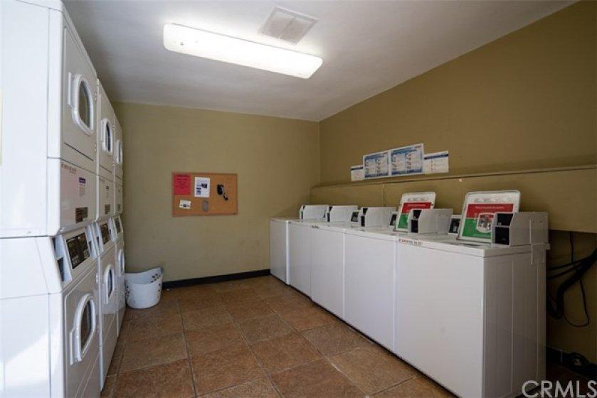 Newer community laundry area