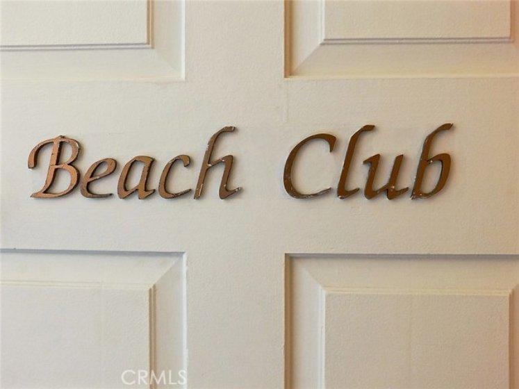 Beach Club entrance door.