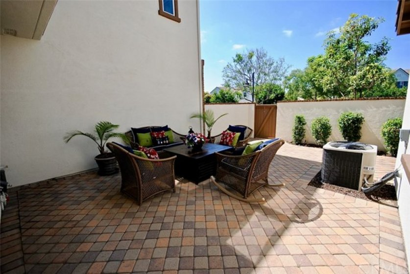 Beautiful, Large, Low Maintenance Backyard with Upgraded Pavers and Gate Backing to Greenbelt!