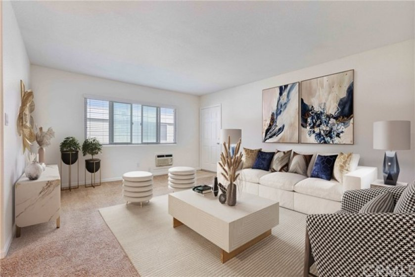 Virtually Staged Living Area