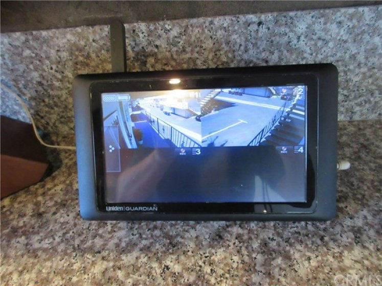 Security system with cameras included with the sale