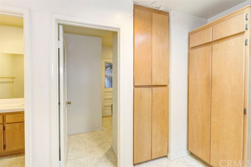 Garage access and laundry room from kitchen