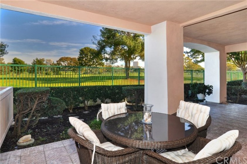 Front row on Newport Beach Country Club.  Spacious patio.