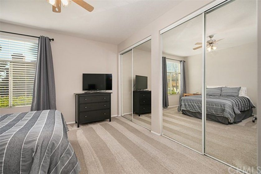 Master with dual mirrored wardrobes