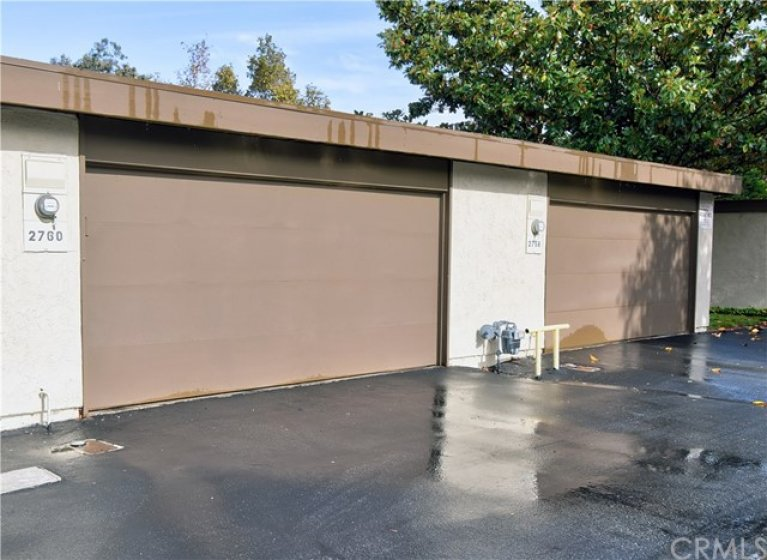 2 Car garage provides direct access to patio area between the property and garage.
