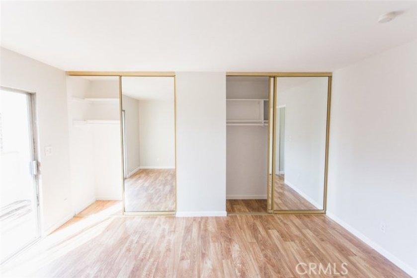 Bedroom 1 - double closets.