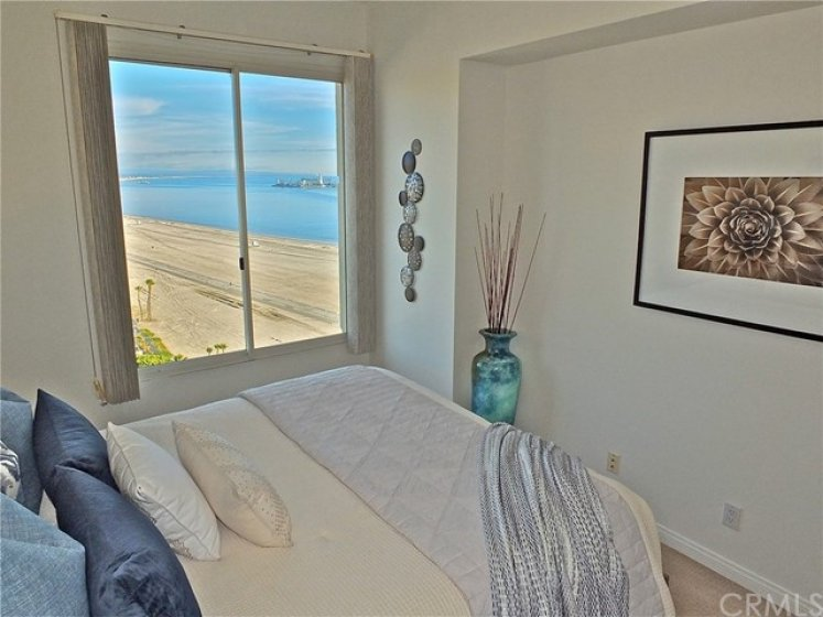 Sand and ocean views from the second bedroom