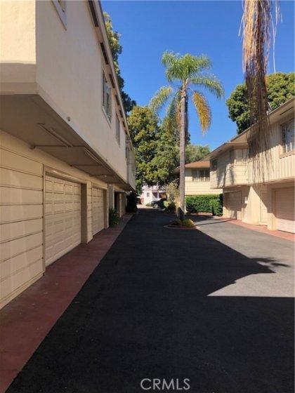 Garage driveway leads to WestGate Avenue.